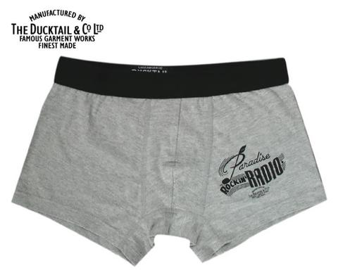"DUCKTAIL CLOTHING ""PARADISE BOXERS"" GRAY"