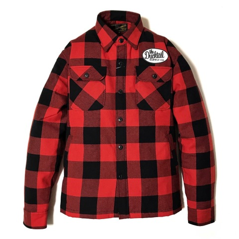 "新作入荷!!DUCKTAIL CLOTHING HEAVY FLANNEL CPO JACKET ""BUFFALO"" RED"