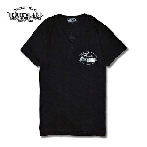 "DUCKTAIL CLOTHING ""PARADISE V-NECK""  BLACK"