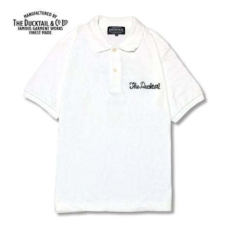"DUCKTAIL CLOTHING ""PARADISE POLO"" WHITE"