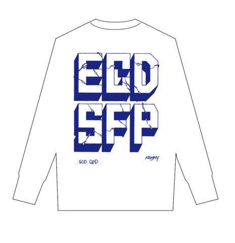 ECDSFP ロンティー ホワイト×ブルー Sサイズ