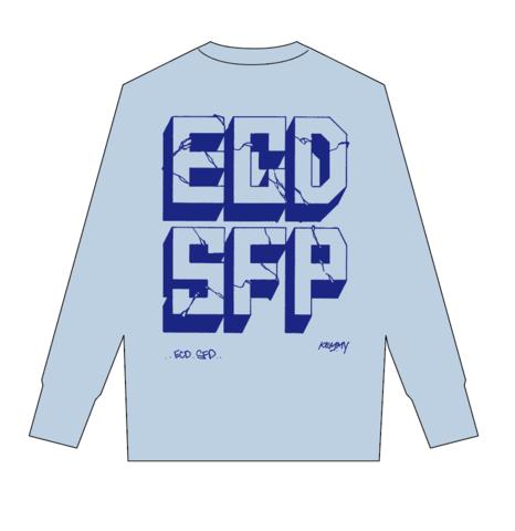 ECDSFP ロンティー ライトブルー×ブルー Sサイズ