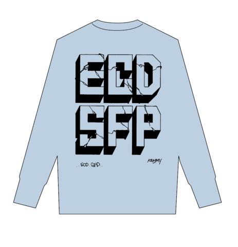 ECDSFP ロンティー ライトブルー×ブラック Lサイズ