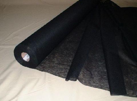 ストレッチ素材用芯地:黒(1反)