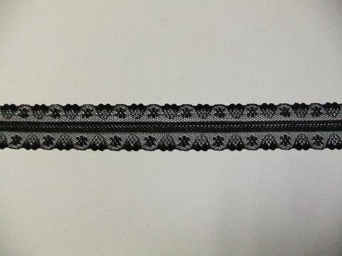 はしごスカラップレース30mm幅:黒(9-30)