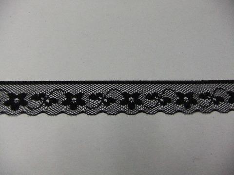 片端スカラップレース18mm幅:黒(16-18)