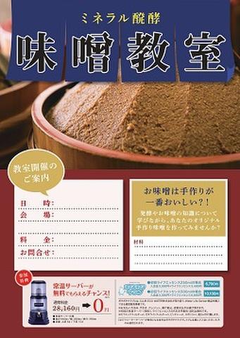 ミネラル醗酵 味噌教室  集客チラシ[50枚入り]