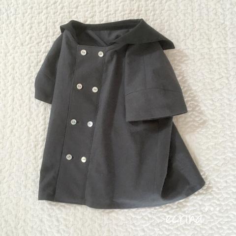 *オーダー子ども服:半袖セーラーシャツ