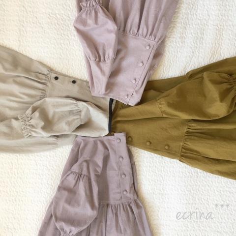 *完成品子ども服:綿麻シンプルワンピース