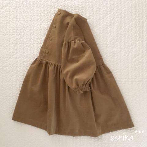 *オーダー子ども服:コーディロイシンプルワンピース