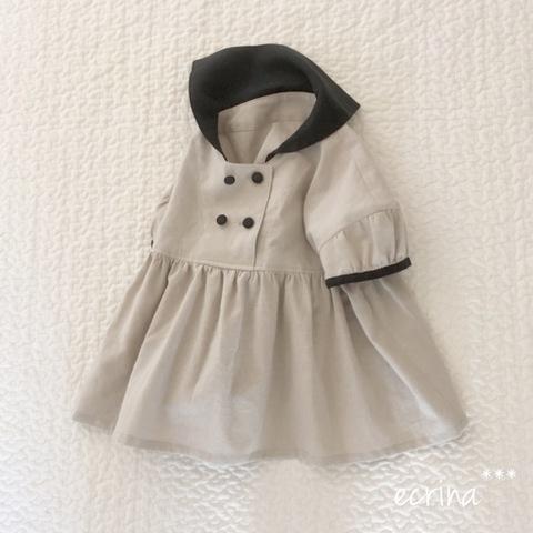 *オーダー子ども服:半袖セーラーブラウス