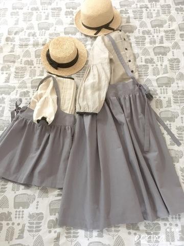 *オーダー子ども服:サスペンダースカート