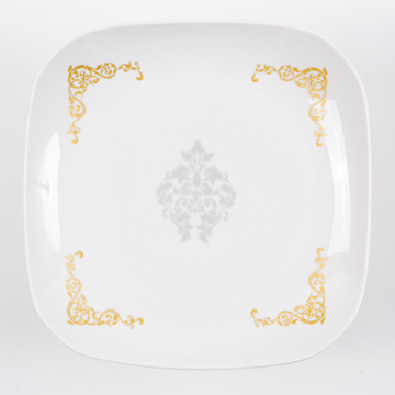 14.damask dish 2color (Silver with Gold flame/Gold with Silver flame) (ダマスクディッシュ/2カラー)