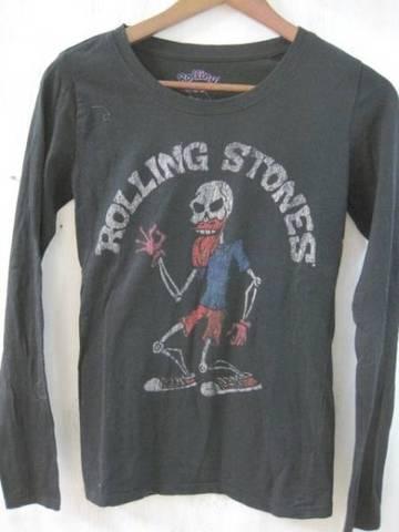 NEW-Rolling Stones ガイコツL/S T-シャツ