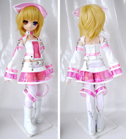 MDD/S胸用 エナメルスーツセット・桜ピンク