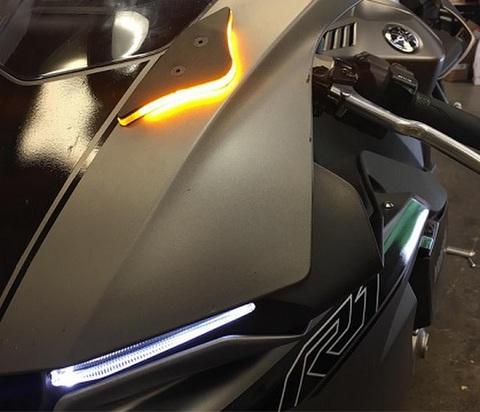 YZF-R1/M LEDウインカー+ミラーブロックオフ