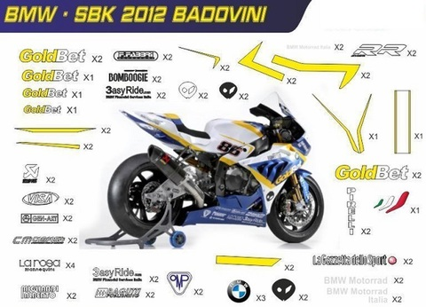 S1000RR SBK グラフィックステッカーデカール①