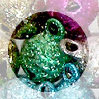銅鈴 8mm 緑2個入