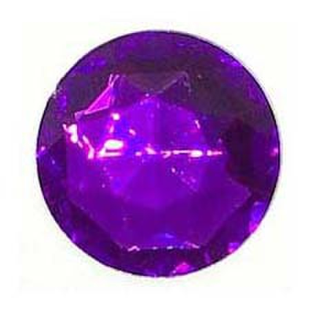 フラットビーズ-紫色-25mm