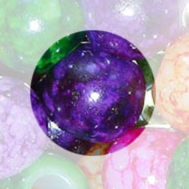 ビーズ 9mm 4個入 紫色