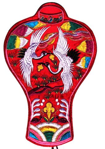 刺繍ビーズー大-丸長赤