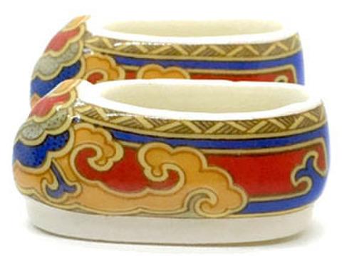 陶器ビーズ 靴-大 2個入り