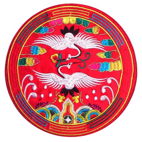 刺繍ビーズー大ー丸赤