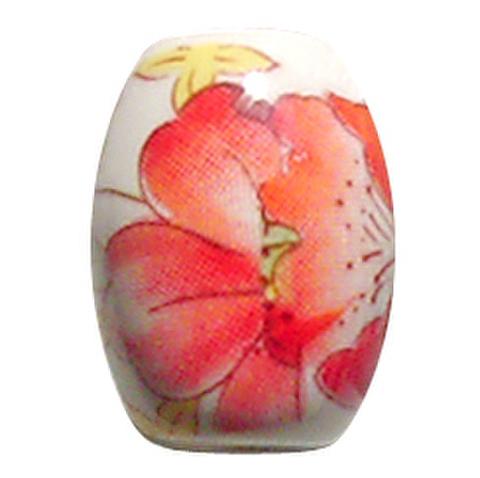 陶器ビーズ バラ