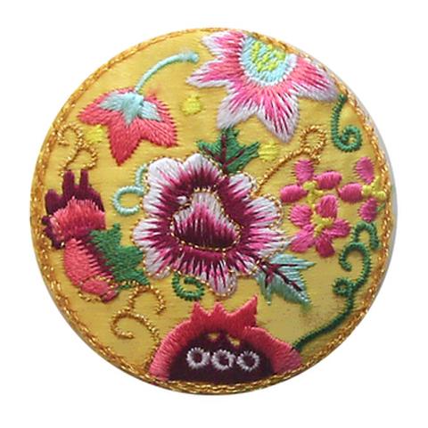 刺繍ビーズー丸花ー黄色