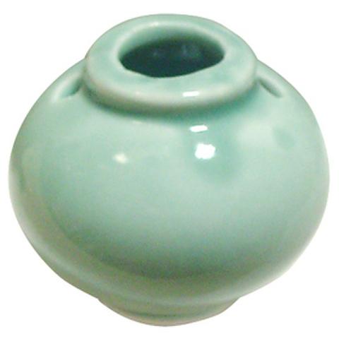 陶器ビーズ-壺-青磁色