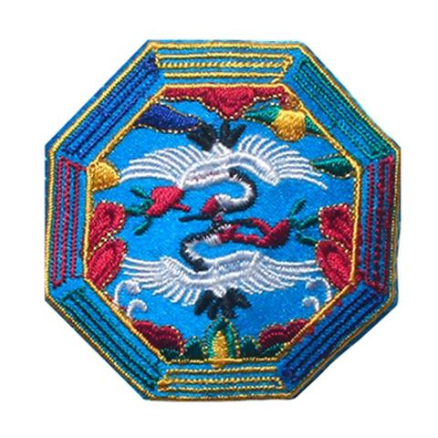 刺繍ビーズー八角形ー青