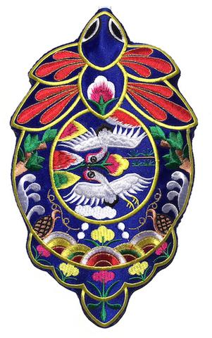 刺繍ビーズー大-丸7青