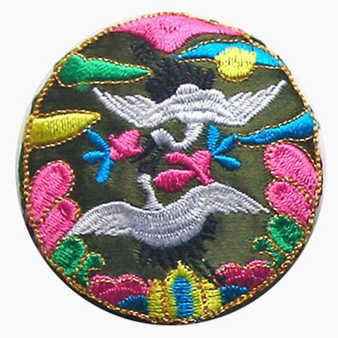刺繍ビーズー丸鶴ー緑