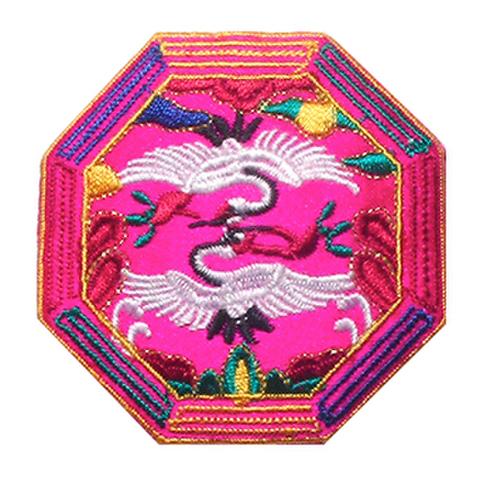 刺繍ビーズー八角形ーピンク