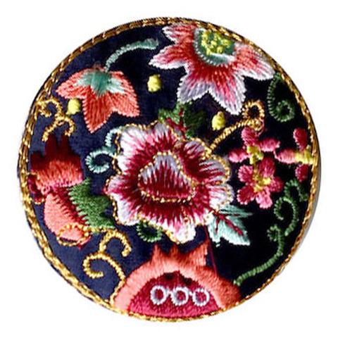 刺繍ビーズー丸花ー黑