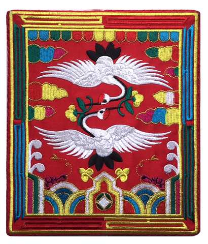 刺繍ビーズー大ー角赤