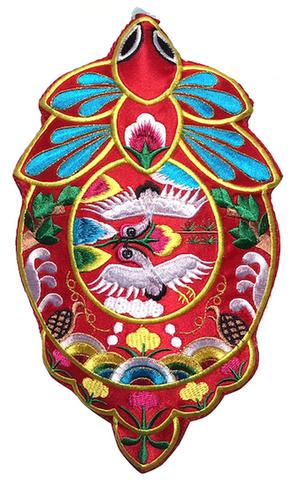 刺繍ビーズー大-丸7赤