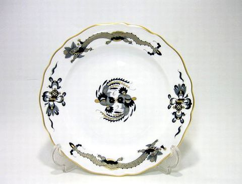 マイセン 【龍と鳳凰文・黒・320010】 18.5cmプレート・501 10%Off