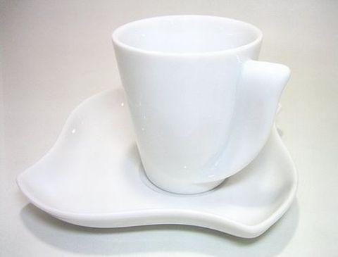 リチャードジノリ 【デダロホワイト】 兼用カップ/クッキーソーサー 21%Off
