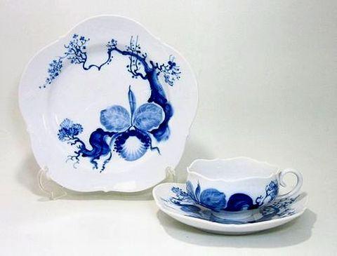 マイセン 【ブルーオーキッド824001】 ティーC/S+21cmプレート  25%Off
