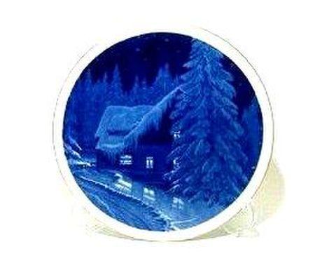 マイセン・1996年復刻イヤープレート 1954年・森の家のクリスマス 30%Off