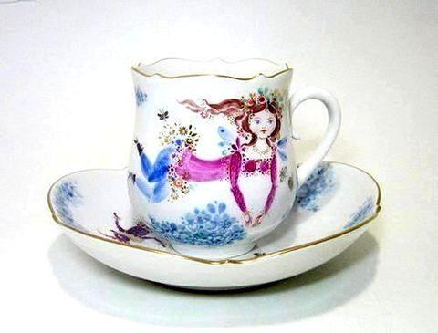 マイセン 【真夏の夜の夢 ミッドサマー・ナイト・ドリーム】 コーヒーC/S・23582-6 15%Off