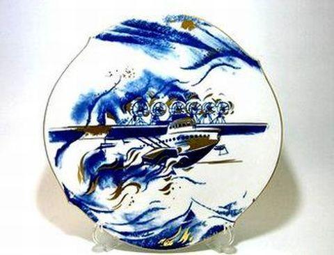 マイセン 【イヤープレート φ27cm】 2002年・飛行艇ドルニエドックス 30%Off