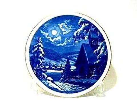 マイセン・1996年復刻イヤープレート 1957・村のクリスマスの夜 30%Off