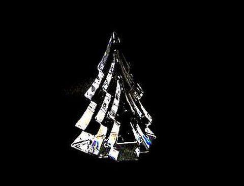 ホヤ 【クリスタル・クリスマス ブランド黒箱】 ツリー・クリア  H12cm 20%Off