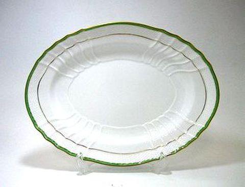 リチャードジノリ・ベッキオ・ジェンマ(翡翠) 33cmオーバルディッシュ 30%Off