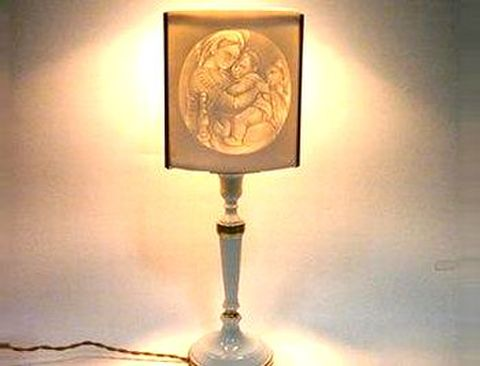 リチャードジノリ 【ジュビレオコレクション ブランド箱】 小椅子の聖母ランプ H45cm 20%Off