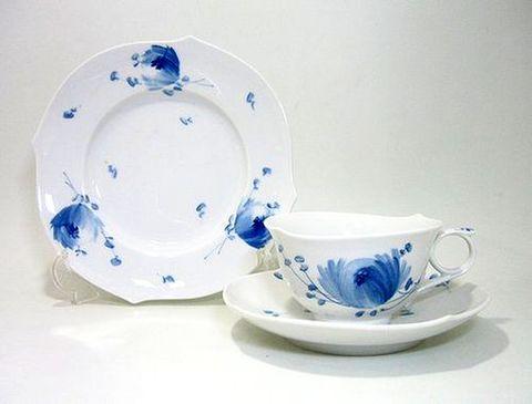 マイセン 【青い花・614701】 マイタイム(ティーC/S+19cmプレート)セット 20%Off
