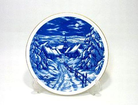 マイセン・1996年復刻イヤープレート 1937年・エルツ山地の風景 30%Off