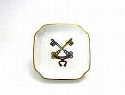リチャードジノリ・ジュビレオコレクション 9cm極小角皿教皇紋章・鍵  25%Off
